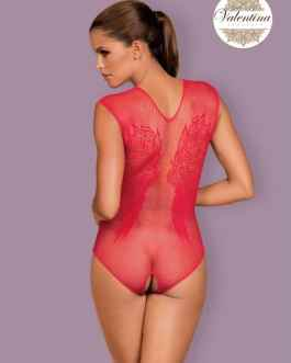Bodystocking ouvert TERRY rouge