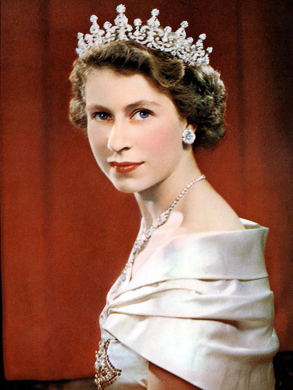RCOD 227-X01A Queen Elizabeth II Obligatory Credit - CAMERA PRESS/ Karsh SPECIAL PRICE APPLIES - CONSULT CAMERA PRESS OR IT'S LOCAL AGENT. HM the Queen pictured around the time of her Coronation on the 6th February, 1952. British tiara studio shot royalty royal robes Queen portrait pictures official picture monarch jewellery female