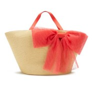 Large Straw Bow Tote
