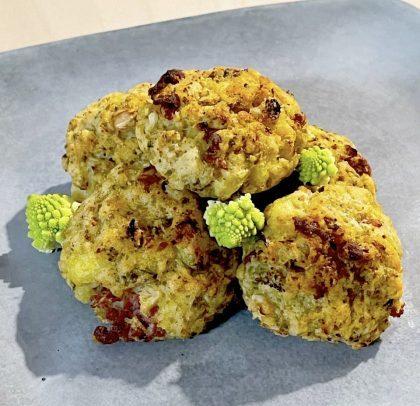 Crocchette di cavolo romano patate e speck