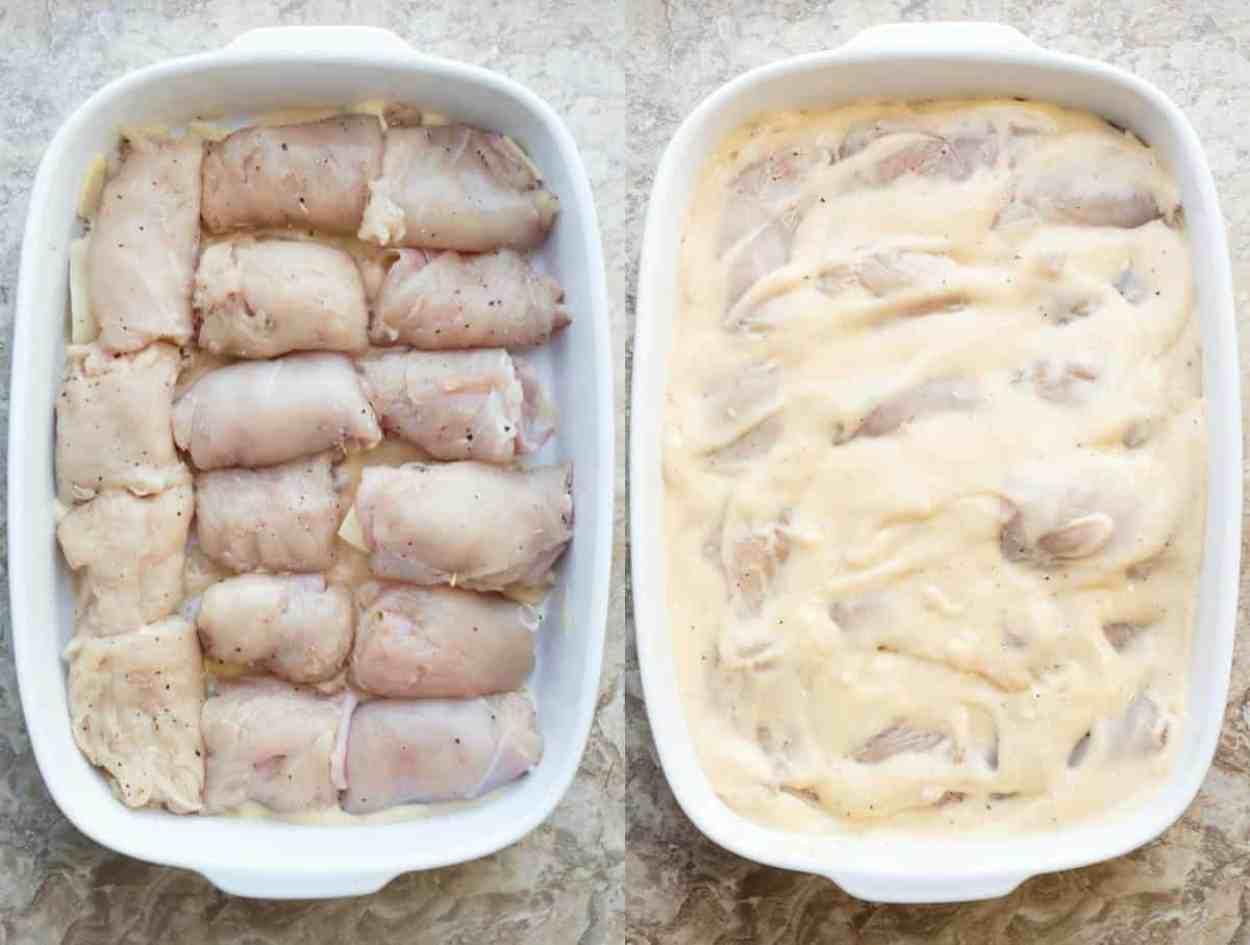 How to prepare chicken cordon bleu casserole.
