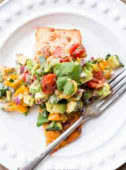Baked Salmon with Avocado Salsa (VIDEO)