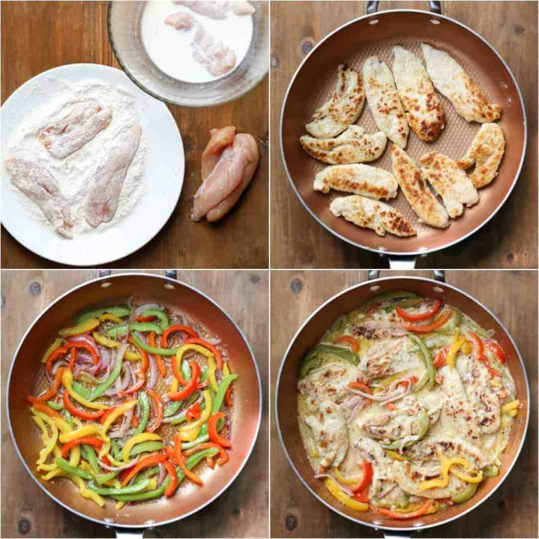 Step by step instructions on how to make chicken scampi.