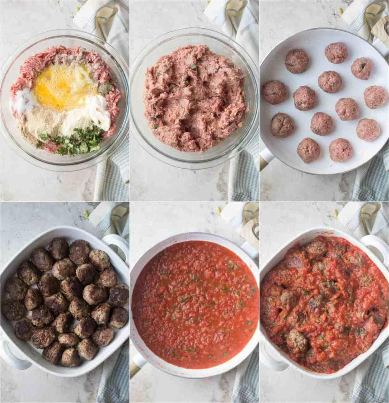 How to make meatballs recipe. Preparing the meatballs, making the homemade marinara sauce.