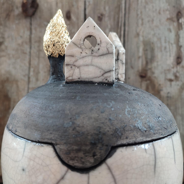 Rio Bo, Scultura Ceramica Raku - Valentina Semprini