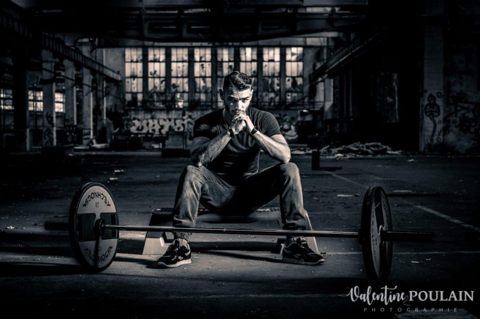 Shooting fitness musculation - Valentine Poulain