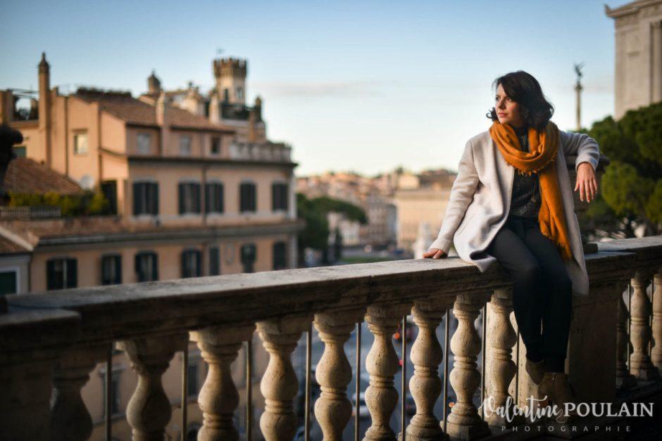 Shooting portrait Silvene Rome Créatrice balcon