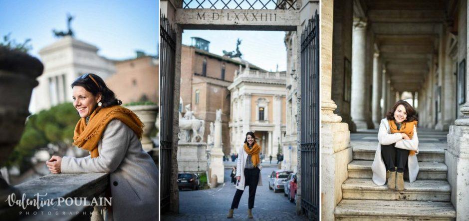 Shooting portrait Silvene Rome Créatrice triptyque
