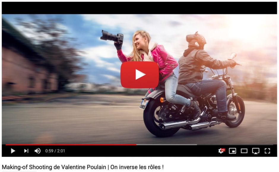 Making-of Shooting Valentine Poulain Youtube