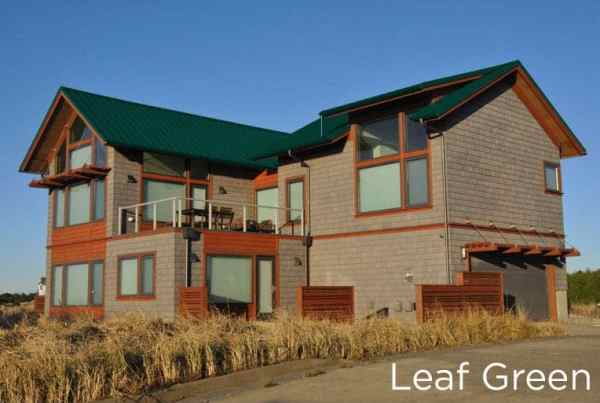 """New Metal """"Leaf Green"""" Roof on a 2-story home"""