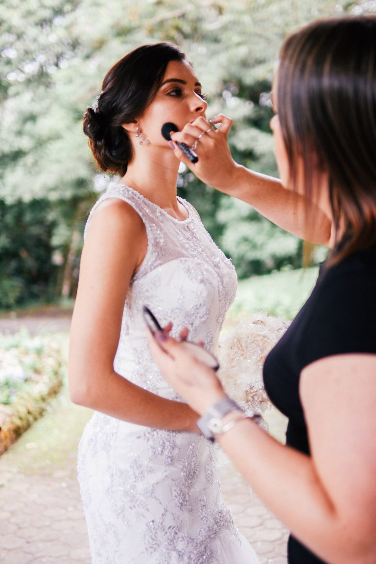 Wedding makeup and lighting