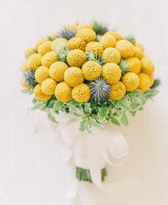 Bold Yellow blue bouquet