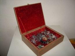 Boîte à bijoux en acajou
