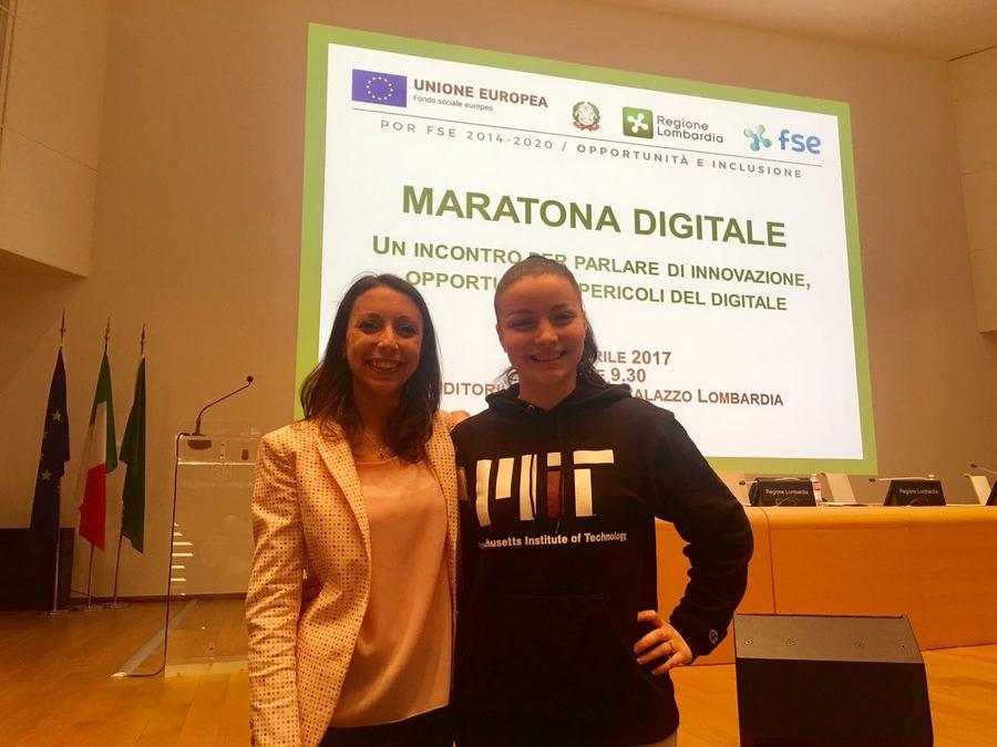 Valeria Cagnina speaker alla maratona digitale con Mirna Pacchetti di Intribe