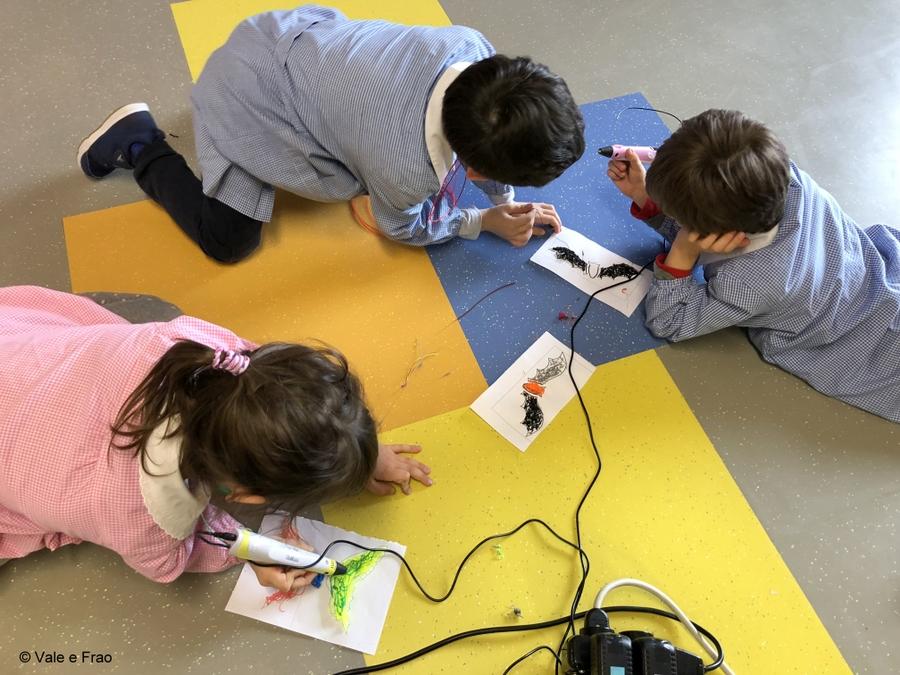 Corso per bambini dell'Asilo e di 1° elementare penna 3d