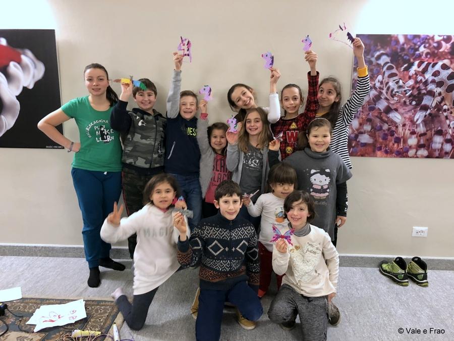 Laboratori di robotica per bambini al museo di Asti Volpe interattiva led