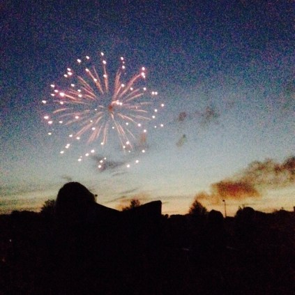 They were super impressive for local fireworks. The finale was just amazing!
