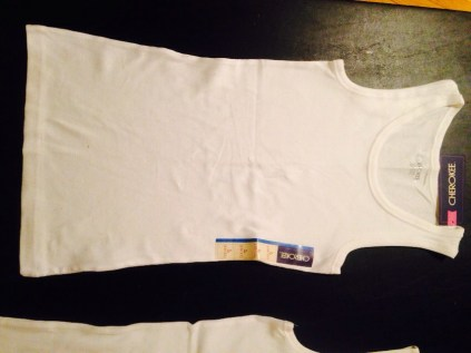 Got two blank white tank tops from Target