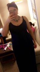 OOTD - blue maxi dress w sneaks