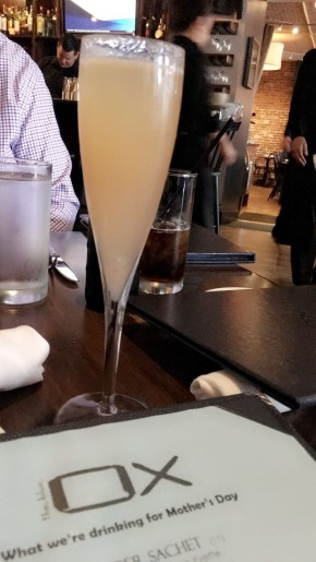 Started with a grilled peach bellini