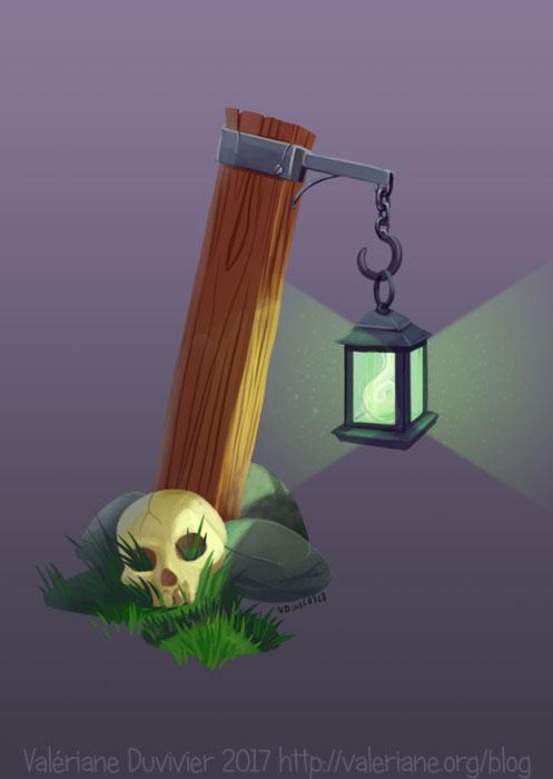 La lanterne et le crane
