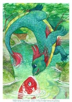 Dragon et poisson