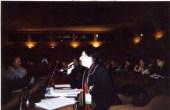 """1er Etats généraux de l'handicap, 20 Mai 2005. Intervention dans la salle plénière à l'Unesco pour parler du coût d'une édition adaptée et la problématique des circuits de diffusion. Chaque personne pouvant demander à prendre la parole devant le jury composé de personnalités de l'art et littérature. Dans cette salle idées et débats sur la culture et le handicap pour l'accessibilité.Présentation des étapes en tant qu'auteur indépendant. """"Livre d'astrologie en braille"""". (culture et loisirs accessibles)"""