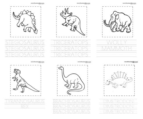 dinosaur preschool printables. Black Bedroom Furniture Sets. Home Design Ideas