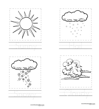 cold weather coloring pages - weather preschool printables