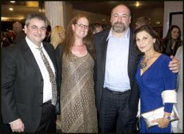 Friends, Ann and Claudio and James Gandolfina
