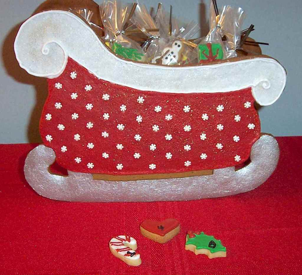 Cookie Craft gingerbread sleigh finished Advent Calendar