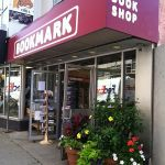 Awning and flowers in front of Bookmark Book Shop - Halifax NV