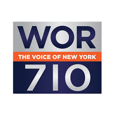 logo for WOR radio, the voice of NY