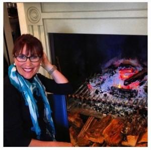 Mum, fireside