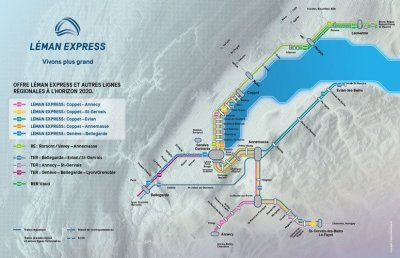leman express - carte