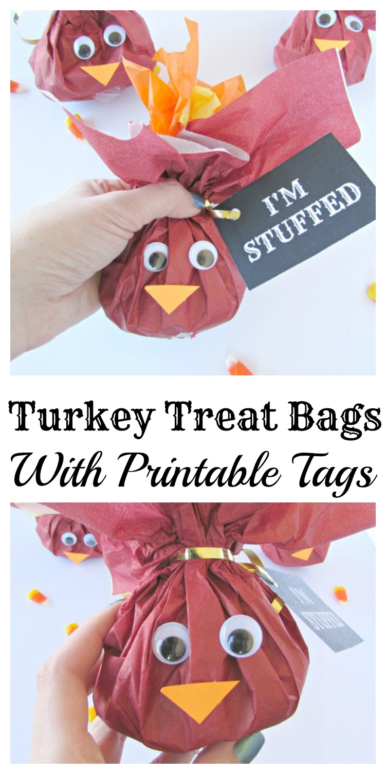 Turkey Treat Bags With Printable Tags Val Event Gal