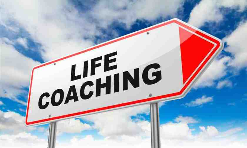 """A road sign that says """"life coaching"""""""