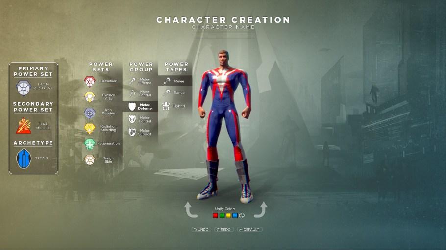 Valiance Costume Editor Powers