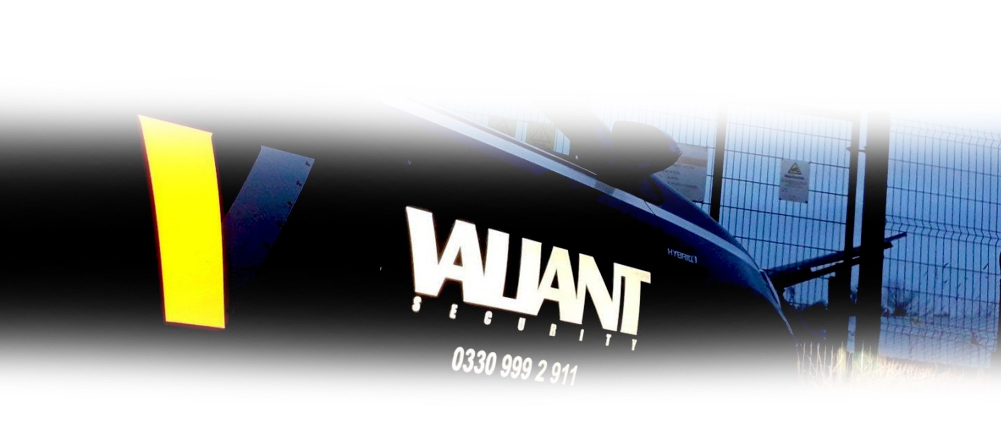 Valiant Security car About us page