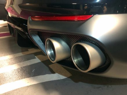 Exhaust pipes detailing