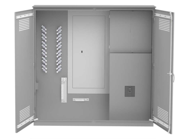 400A Single Phase Campground Distribution with CT Enclosure on white background.