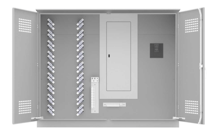 400A Single Phase Campground Power Distribution on white background.