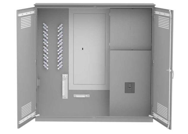 800A Single Phase Campground Power Distribution Center with CT Enclosure on white background.