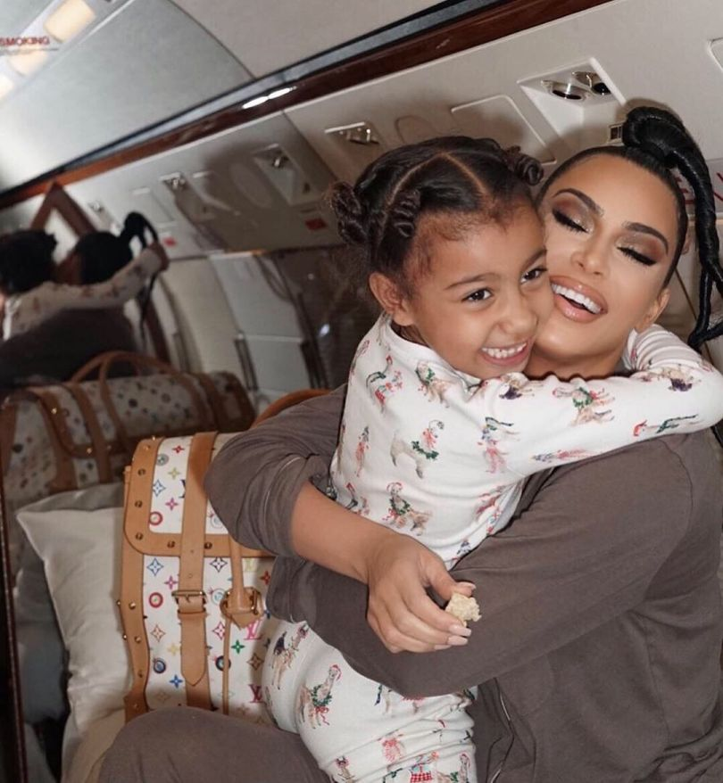 (GIST): Kim K And Her Daughter On A PJ Trip