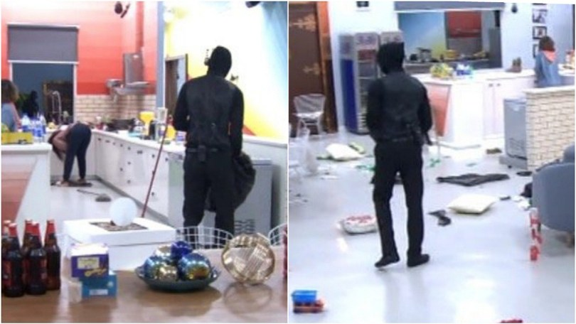 See video and reactions of Big Brother Naija viewers when a Ninja fell down in the house