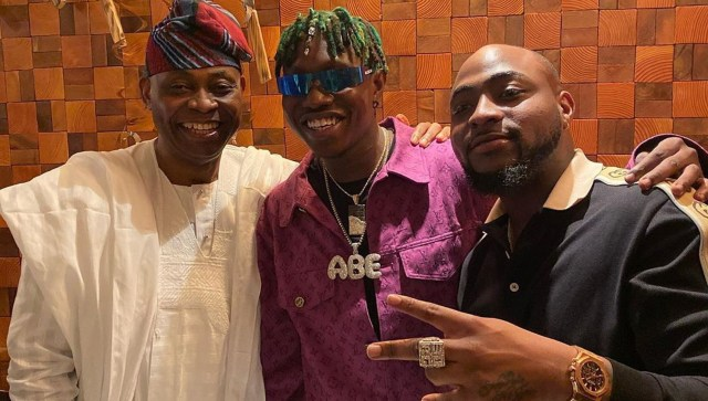 Zlatan Ibile meets Davido's dad, inducted into 30BG