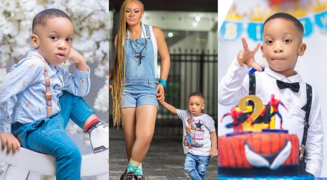 Actress Uche Nnanna shares beautiful pictures of her son, Milan Kenechukwu as he clocks 2