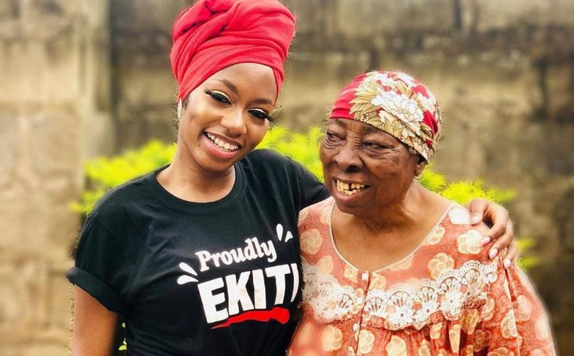 BBNaija's Khafi visits hometown in Ekiti, meets grandma