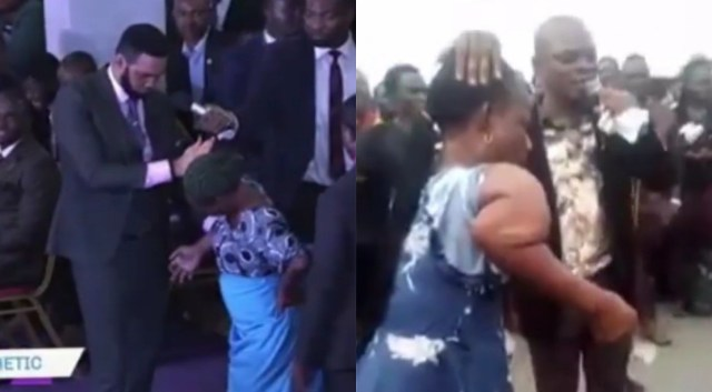 Video shows two pastors healing the same woman on different occasions