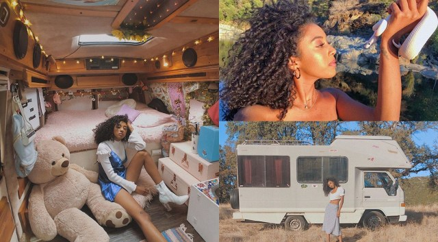 Jennelle Eliana who lives in a van with her snake acquires new home – a second van